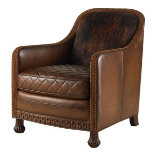 Century Furniture Rustler Chair, Bridle Leather For Sale