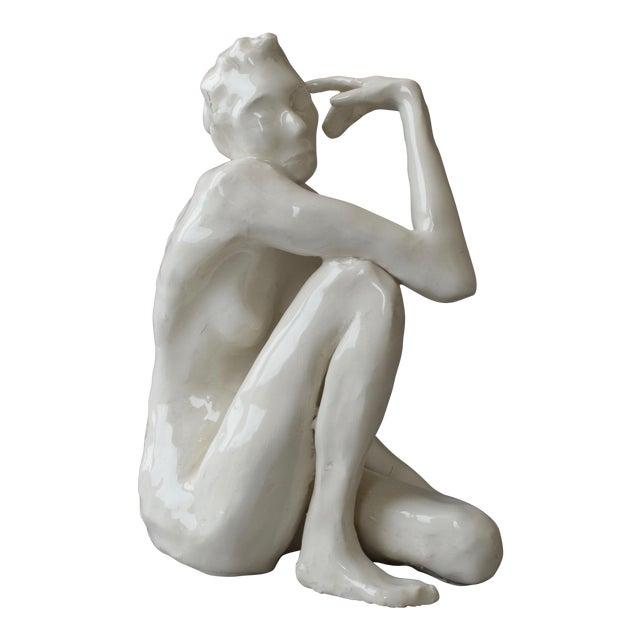 Contemporary Ceramic Figurative Maquette For Sale