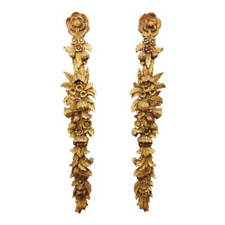 Antique Giltwood Wall Hangings - A Pair For Sale