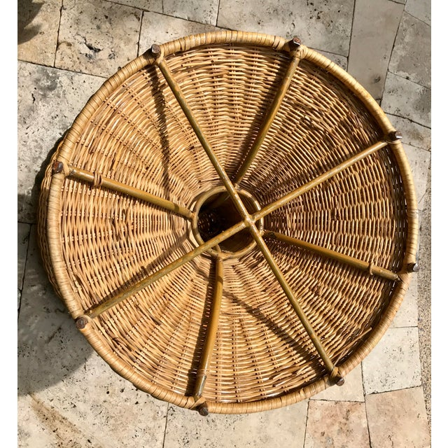 Vintage Wicker Rattan Dining Table For Sale - Image 12 of 13