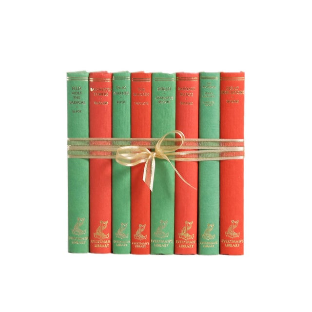 Mid 20th Century Vintage Decorative Book Gift Set: Red & Green For Sale - Image 5 of 5