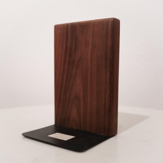 1950s Jane and Gordon Martz Walnut Ceramic Bookends for Marshall Studios For Sale - Image 5 of 8