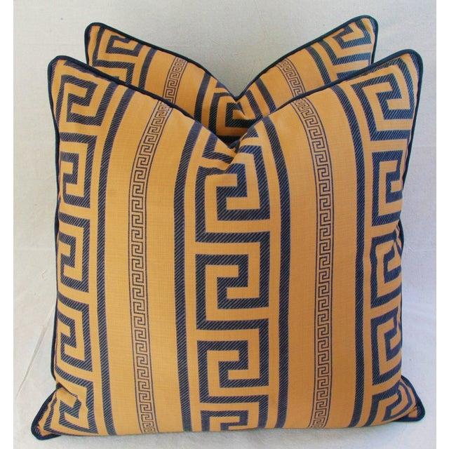 Designer Pierre Frey Greek Key Pillows - a Pair - Image 2 of 8