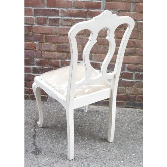 Cottage Set of Six Vintage French Chairs For Sale - Image 3 of 8