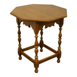 Vintage Ethan Allen Heirloom Nutmeg Maple Octagonal Accent Table For Sale