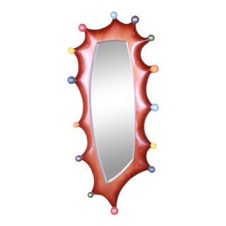 Postmodern Custom Studio Crafted Wall Mirror by Brent Skidmore For Sale