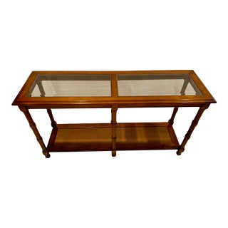 1950s Lane Faux-Bamboo Console Table For Sale