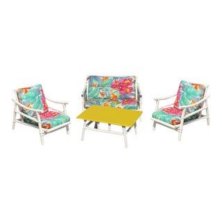 Restored Complete Milo BaughmanRattan Children's Living-Room Set For Sale