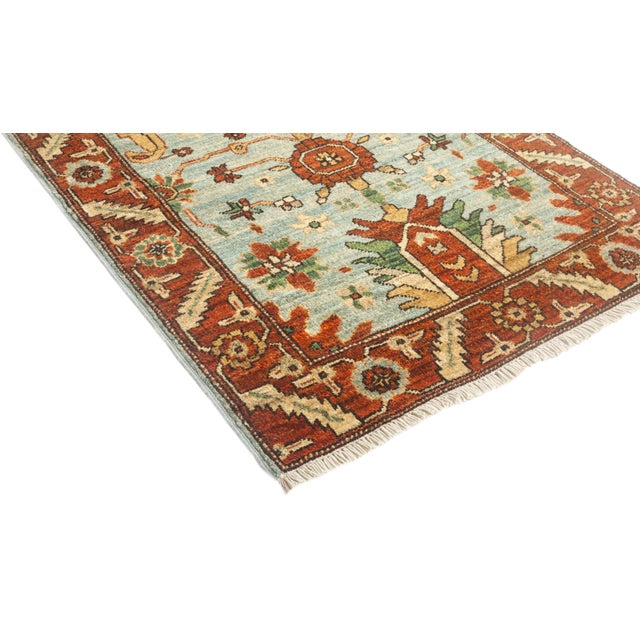 "Traditional Serene, Serapi Area Rug - 2' 8"" X 8' 0"" For Sale - Image 3 of 4"