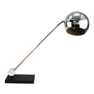 Laurel Lamp Company Modern Chrome Ball Table Lamp For Sale