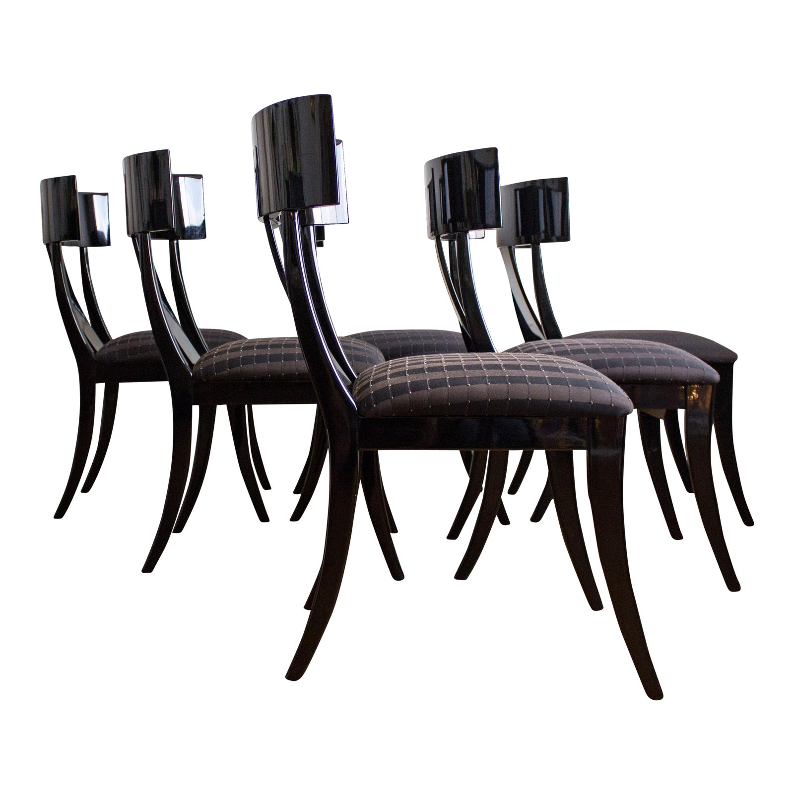 Black Lacquer Dining Room Chairs: Made In Italy By Pietro Costantini