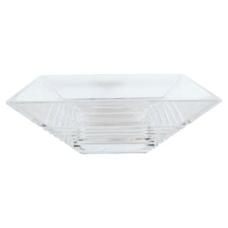 Art Deco Style Stepped Translucent Crystal Decorative Bowl by Tiffany & Co. For Sale