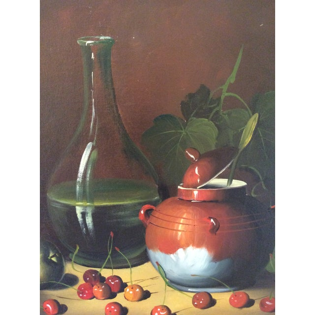 Mid-Century Frank Lean Still Life in Oil For Sale In Columbus - Image 6 of 13