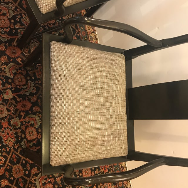 Mid-Century Modern Asian Style Armchairs - A Pair For Sale - Image 11 of 12