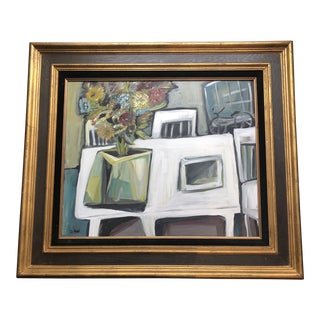 Original Contemporary Stewart Ross Modernist Abstract Still Life Painting For Sale
