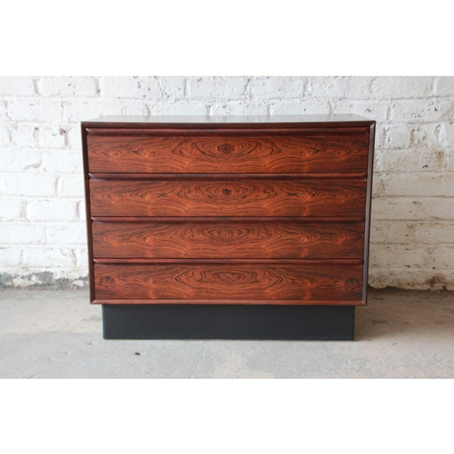 Westnofa Norwegian Rosewood Bachelor Chest For Sale - Image 11 of 12