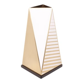 Selamat Designs Morgan Tapered Vase in White For Sale