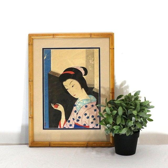 Original 1800s Japanese Asian Art Print - Image 6 of 6