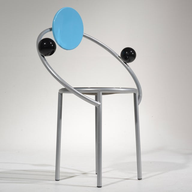 First chair by Michele De Lucchi for Memphis, Milano, 1983.