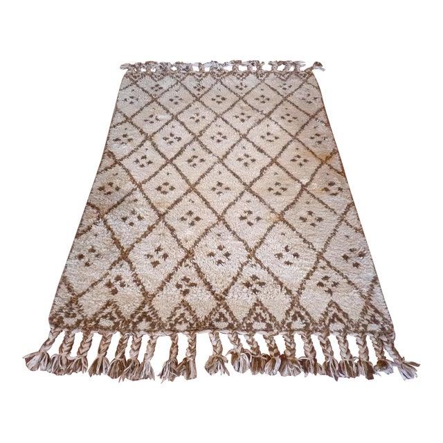 Vintage Handmade Moroccan Rug - Image 1 of 9