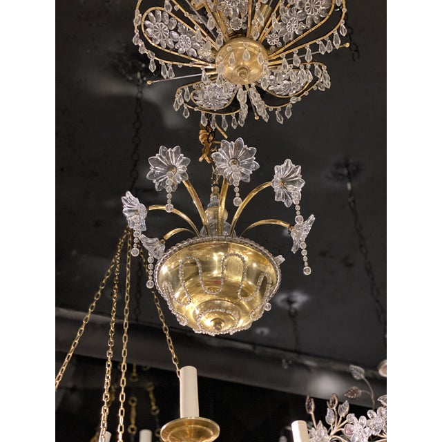 Baguès 1930s French Bagues Chandelier For Sale - Image 4 of 11