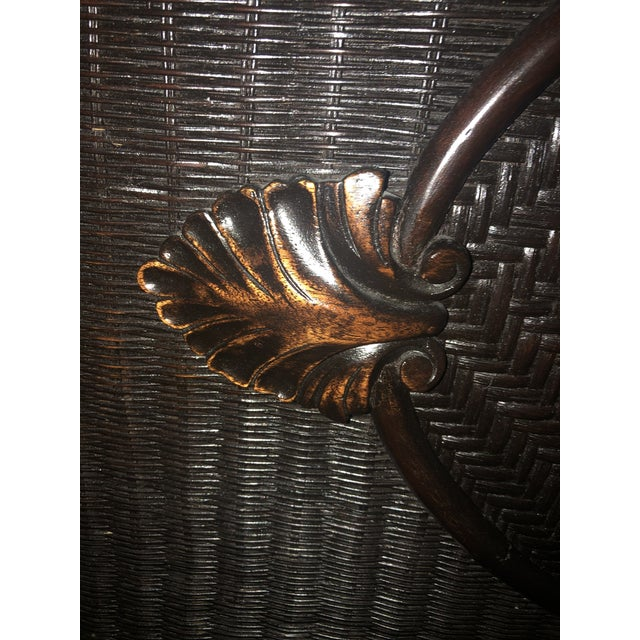 Black Country Ralph Lauren King-Sized Wicker and Wood Bedframe For Sale - Image 8 of 13