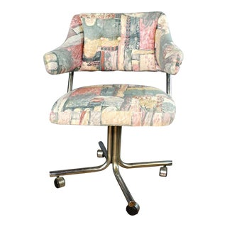 Designer Swivel Upholstered Office Chair For Sale
