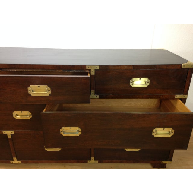 Campaign Style Large Mahogany Chest - Image 3 of 6