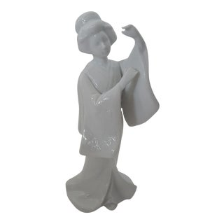 Vintage Blanc De Chine Geisha Girl Figurine