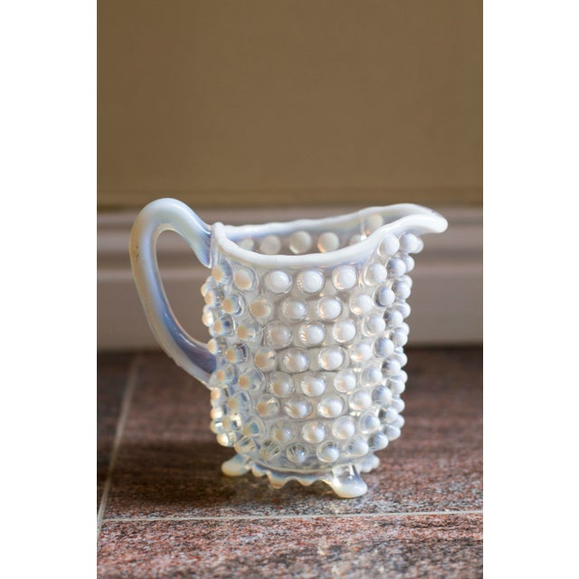 Mid-Century Modern Vintage Small Hobnail Pitcher For Sale - Image 3 of 6