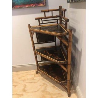 19th Century English Bamboo Corner Etagere Preview