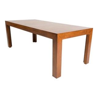 John Widdicomb Furniture Milo Baughman Style Mid-Century Parsons Waterfall Coffee Table Bench For Sale