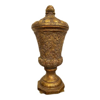 Vintage Reproduction of a European Gold/Bronze Vase/Urn For Sale