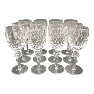 Waterford Crystal Clara Claret Red Wine Glasses - Set of 12 For Sale