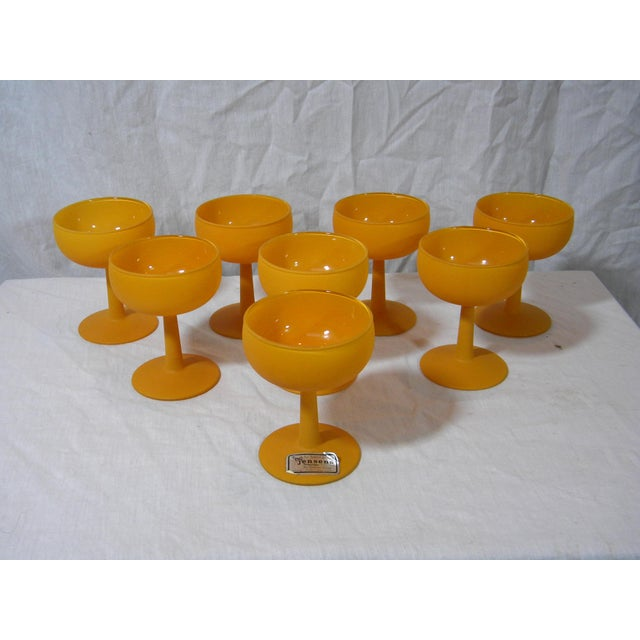 Vintage Frosted Champagne Coupes - Set of 8 For Sale - Image 4 of 4