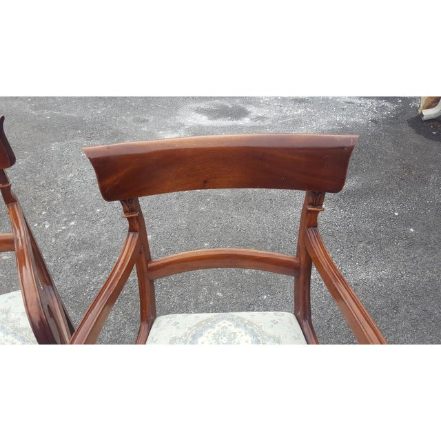 Traditional Wood Arm Chairs - A Pair - Image 5 of 7