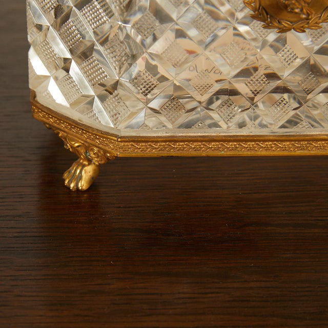 Early 20th Century French Crystal Casket Box For Sale - Image 5 of 8