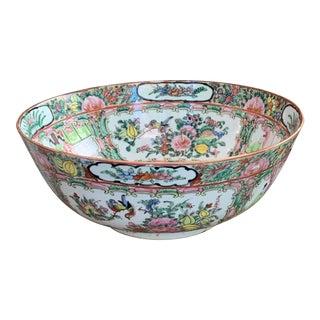 Antique Rose Medallion Bowl For Sale