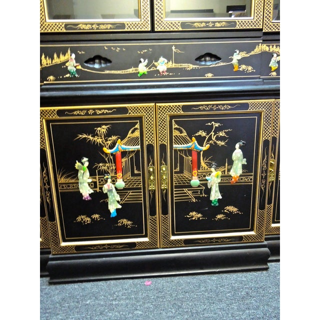 Very Chic 20th Century Chinoiserie Pagoda Glass Front Cabinet For Sale In Palm Springs - Image 6 of 10