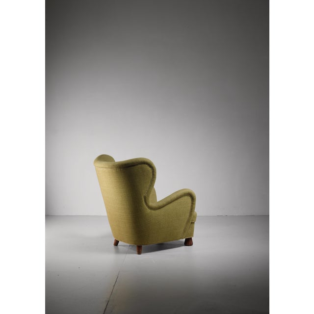 Mid-Century Modern Otto Schulz High Back Armchair for Boet, Sweden, 1930s For Sale - Image 3 of 5