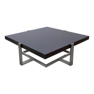 Palisander & Chrome Coffee Table by La Spada & Mazza for Medea, Italy For Sale