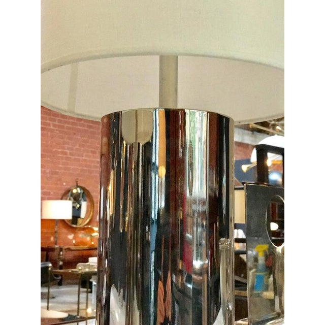 Modern 1970s Italian Reggiani Steel Cylinder Lights - a Pair For Sale - Image 3 of 6