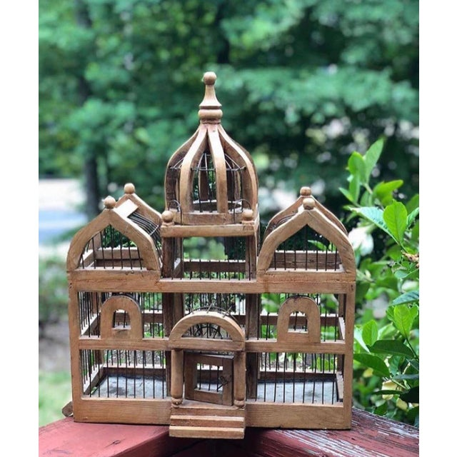 Antique Wooden Bird Cage For Sale In Atlanta - Image 6 of 6