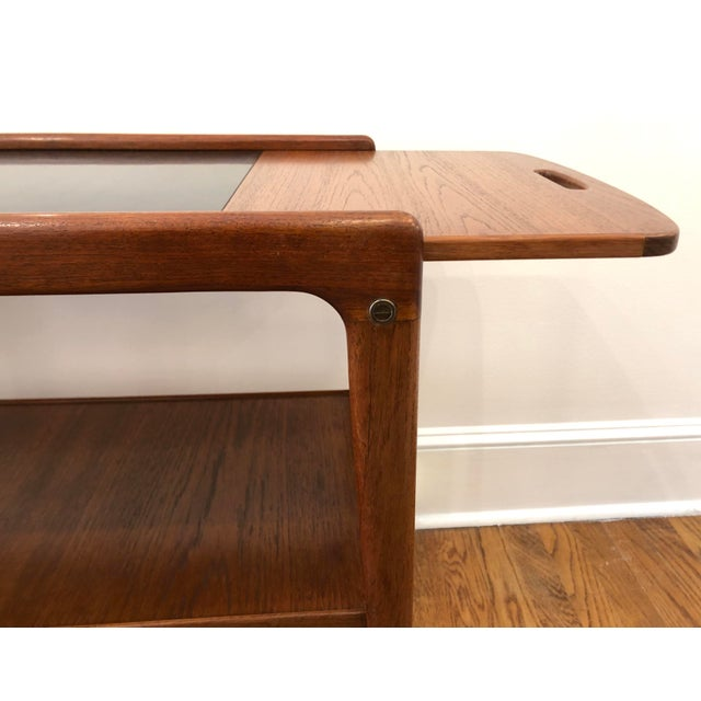 Wood 1960's Mid-Century Modern Wooden Bar Cart For Sale - Image 7 of 9