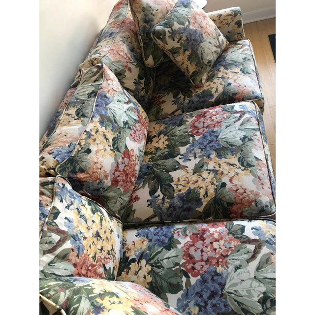 American Antique Floral Sofa For Sale - Image 3 of 4