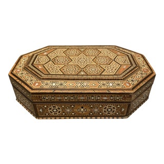20th Century Islamic Wood Inlay Box For Sale