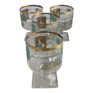 Vintage Georges Briard for Southern Comfort Cocktail Glasses - Set of 4 For Sale