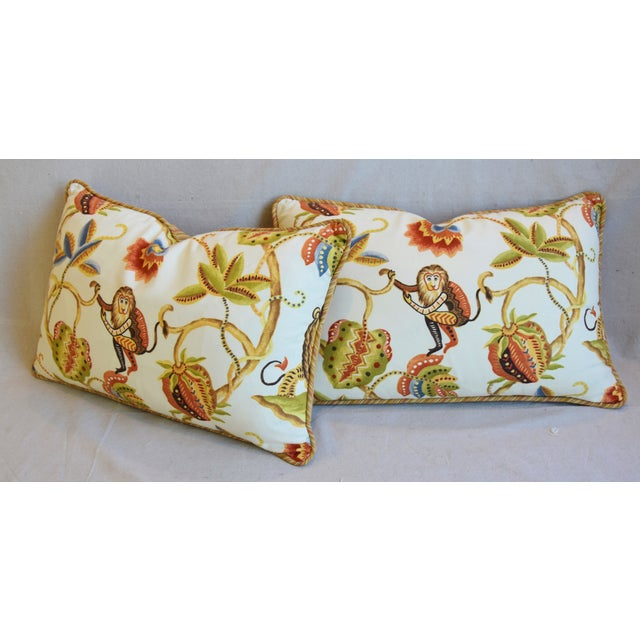 "P. Kaufmann Bazaar Paradise Animal Feather/Down Pillows 26"" X 17"" - Pair For Sale - Image 9 of 13"