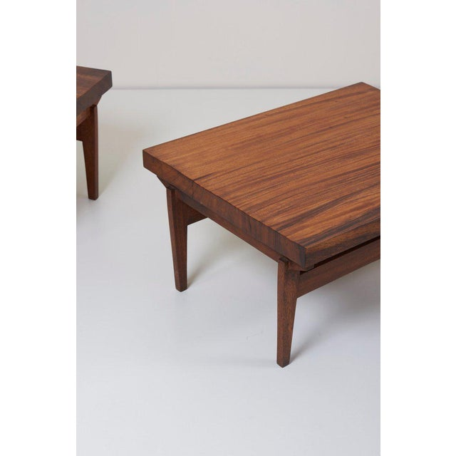 Brown Pair of Signed Studio Craft End Tables, Guatemala, 1960s For Sale - Image 8 of 10