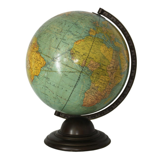 1940's Vintage George Cram Globe For Sale